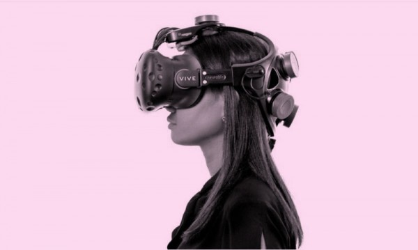 Image of woman wearingVR headset