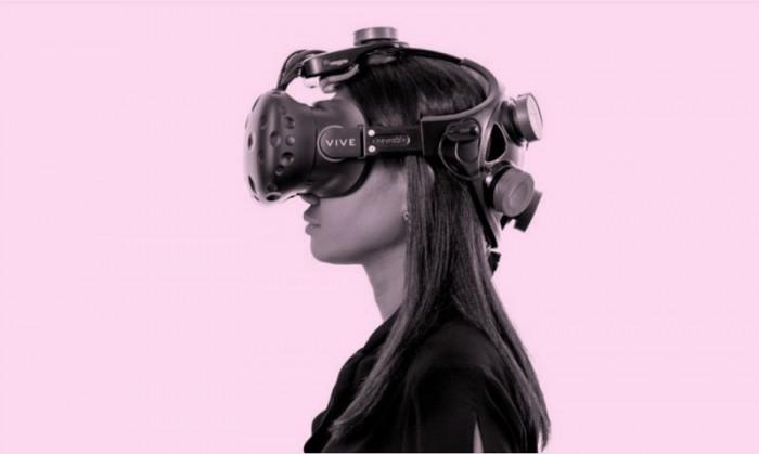 Image of woman wearingVR headset