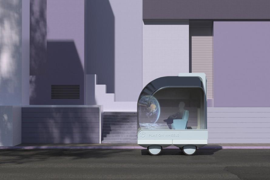Rendering of Ikea's play pod on Wheels