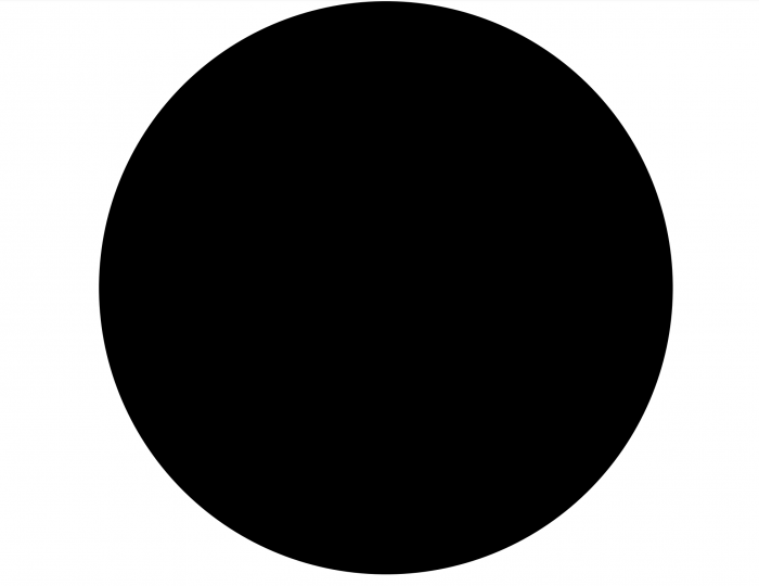 A five-Earth-mass primordial black hole (actual size 5cm)
