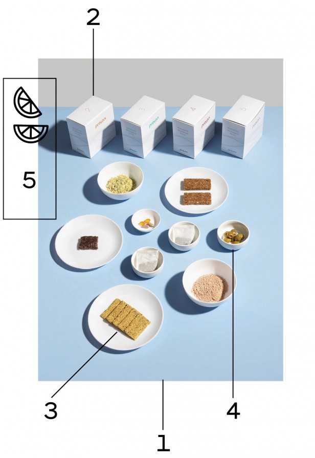 A one-day table spread of the Prolon diet