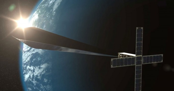 Rendering of orbital reflector