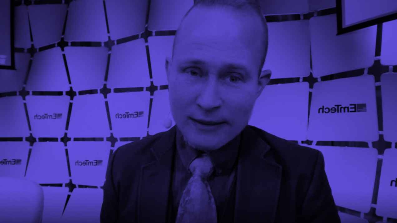 Screencapture from Putin deepfake video