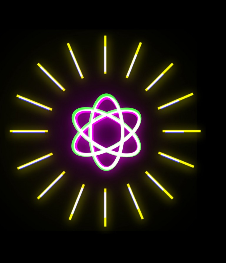 A conceptual illustration of a subatomic particle