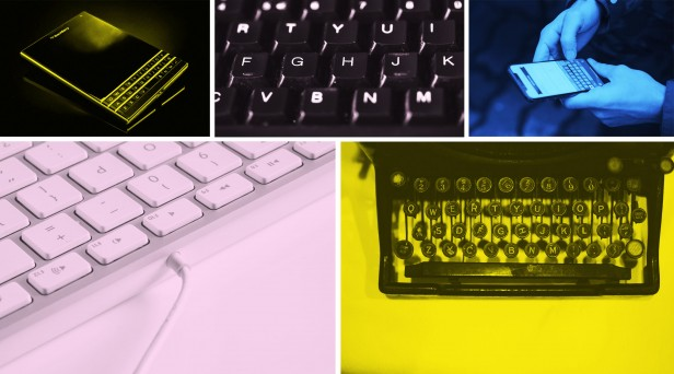 Images of several types of QWERTY keyboards