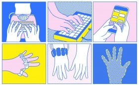 Illustration of different typing technologies