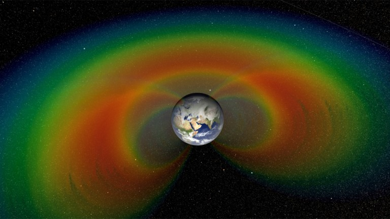 The Van Allen radiation belts.