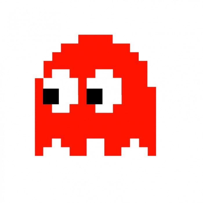 Red Ms. Pacman Ghost