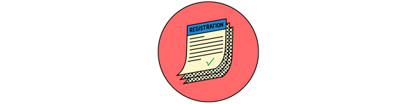 An illustration of voter registration