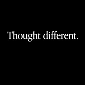 text: thought different
