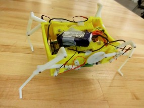 A robot with adjustable joints that can be melted and re-formed to change hinges