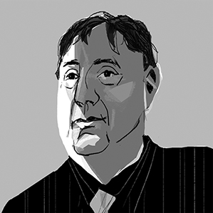 illustrated portrait of Jonathan Rothberg