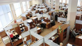 Office workers in Russia