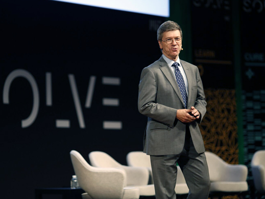 Jeffrey Sachs on the Solve stage.