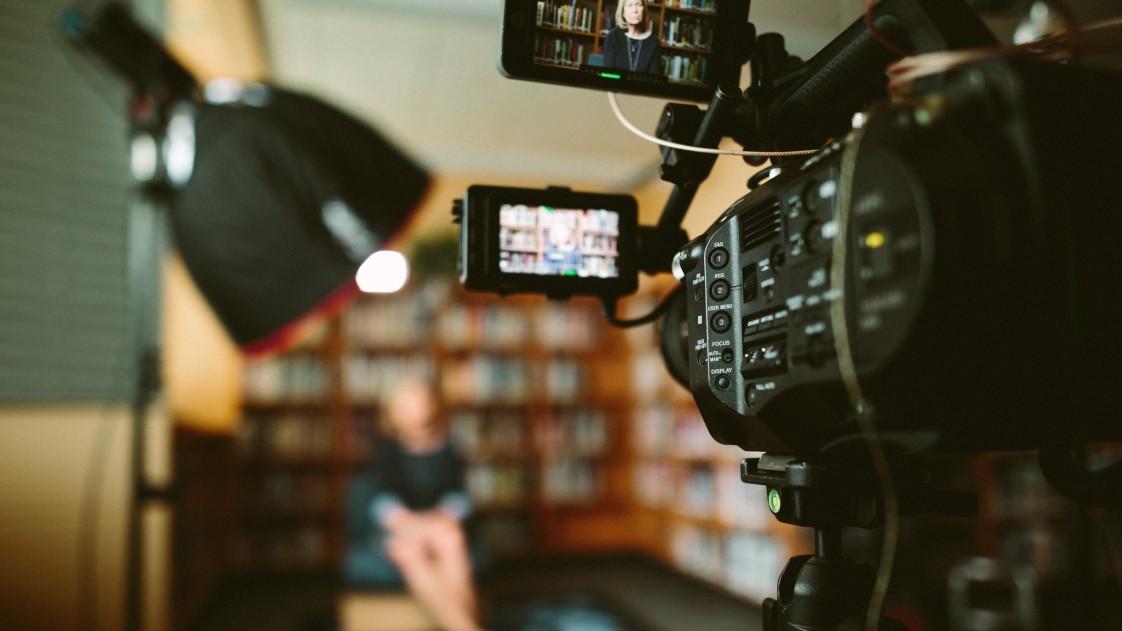 video creator closeup