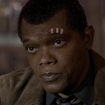 Photo of CGI created de-aged Samuel L Jackson