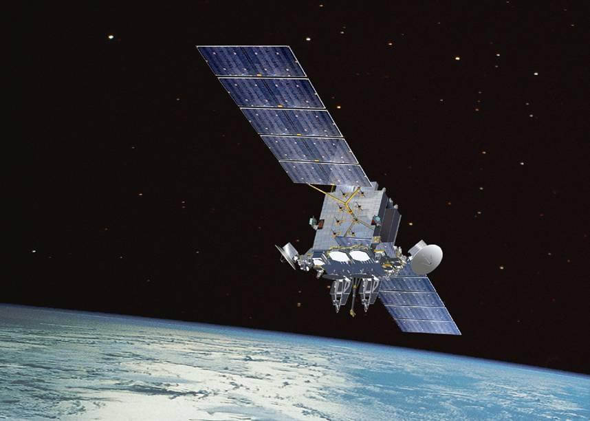 A communication satellite in orbit