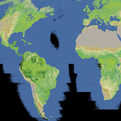 A CloudFree Satellite Map Of Earth MIT Technology Review - Maps earth satellite