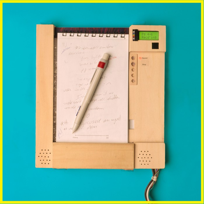 Photo of note-taking device developed by Christopher Schmandt