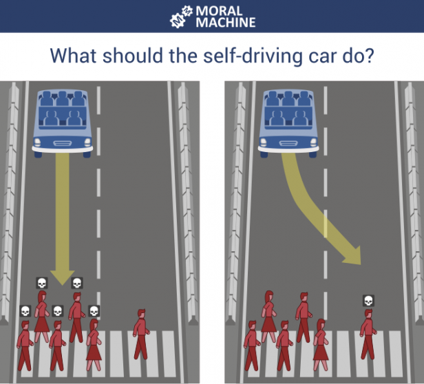 Should a self-driving car kill the baby or the grandma? Depends on