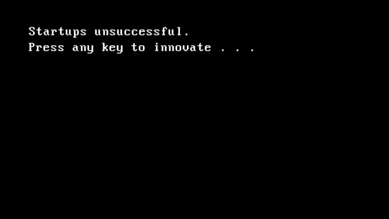 Startups unsuccessful