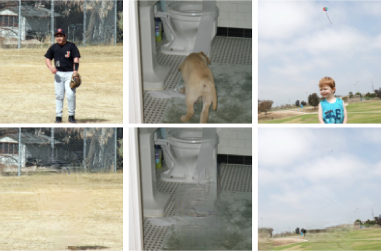 Examples of photos that have had objects removed.