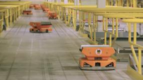 Amazon's Pegasus robots.
