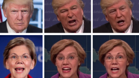 Deepfakes of Donald Trump and Elizabeth Warren.