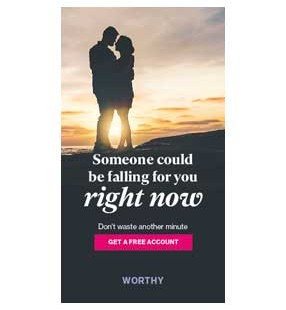 Fake banner ad for Worthy