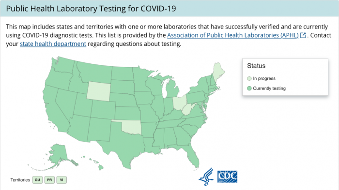 CDC coronavirus dashboard