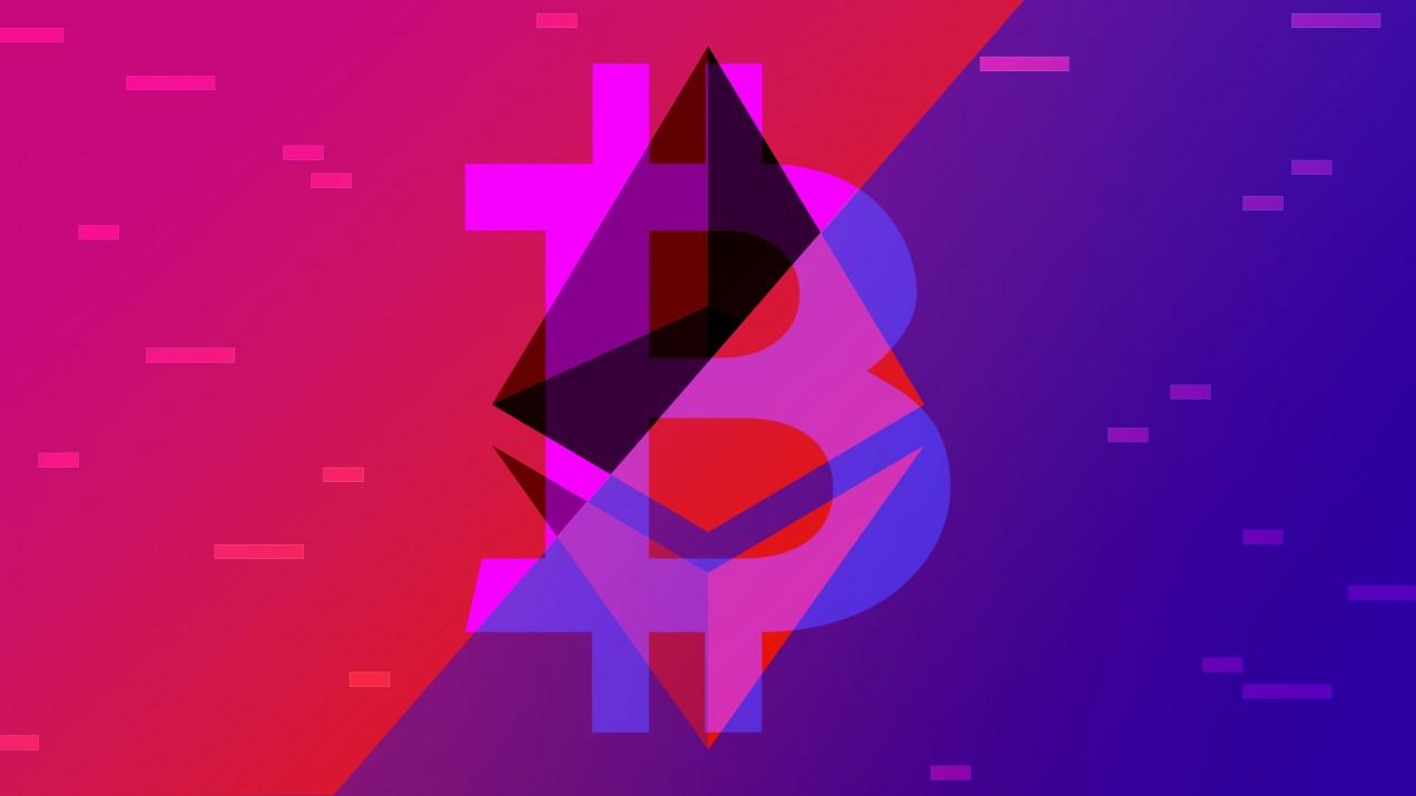 illustration of Ethereum and Blockchain logos