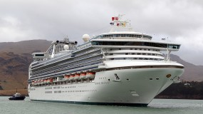The Diamond Princess cruise ship