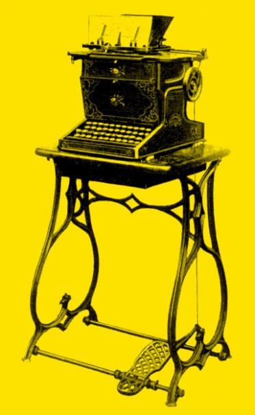 Image of antique Sholes Glidden typewriter