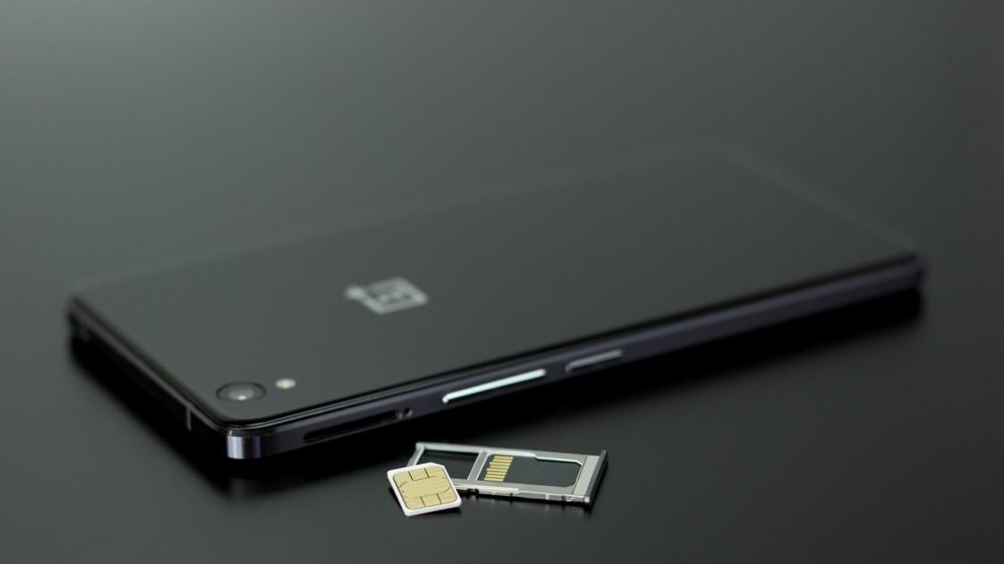 a phone and sim card