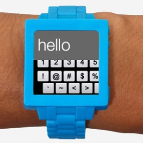 blue smart watch