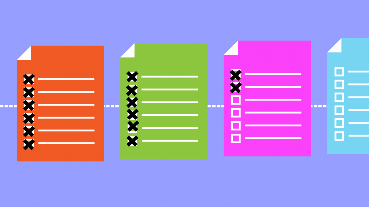 Illustration of paper contracts