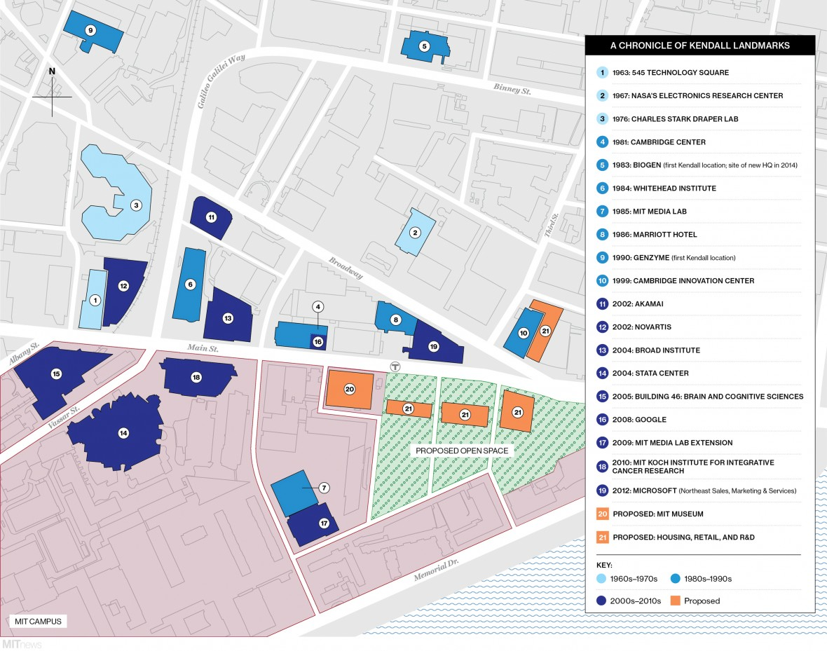 Mapping the Changes in Kendall Square   MIT Technology Review