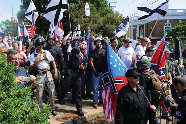 Photo of protesters at the Unite the Right rally