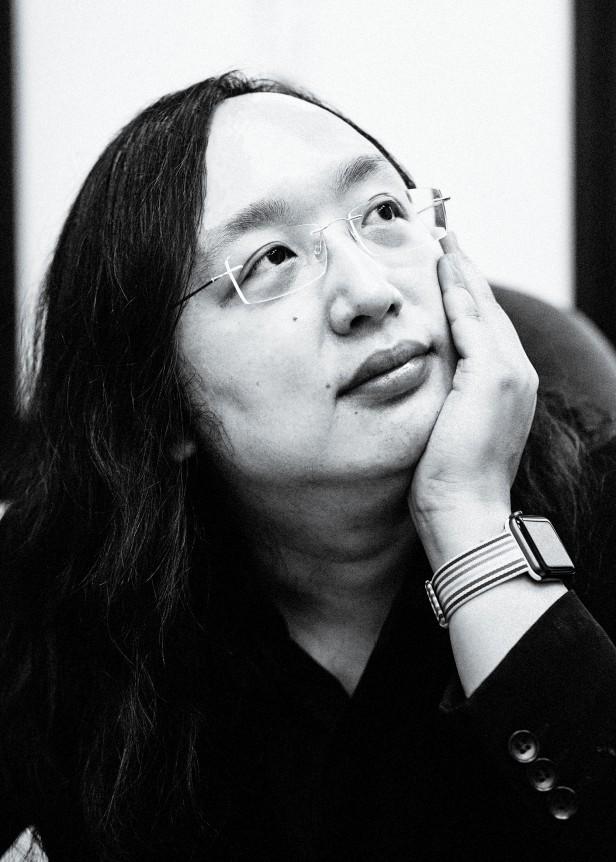Portrait photograph of Audrey Tang