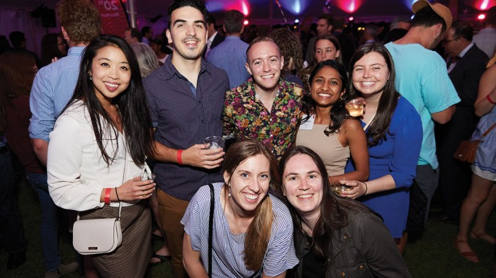 A full day is capped off by hanging out with friends at the Pops Encore after-party in a festively lit tent on Kresge Oval.