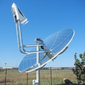 mirrored parabolic dish
