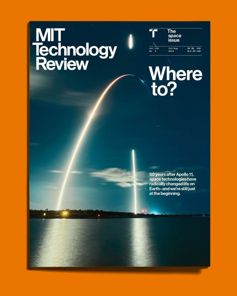 An image of the July/August 2019 Space issue