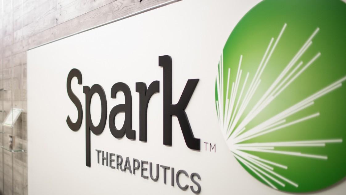 A spark therapeutics logo