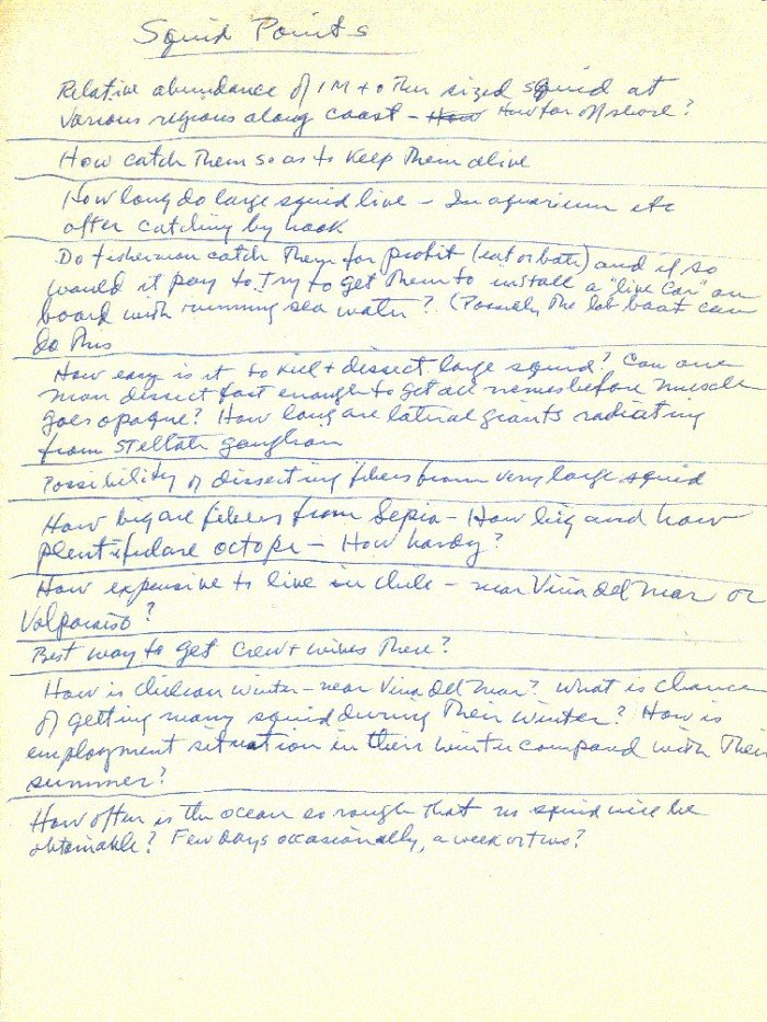 Page with handwritten text with the title