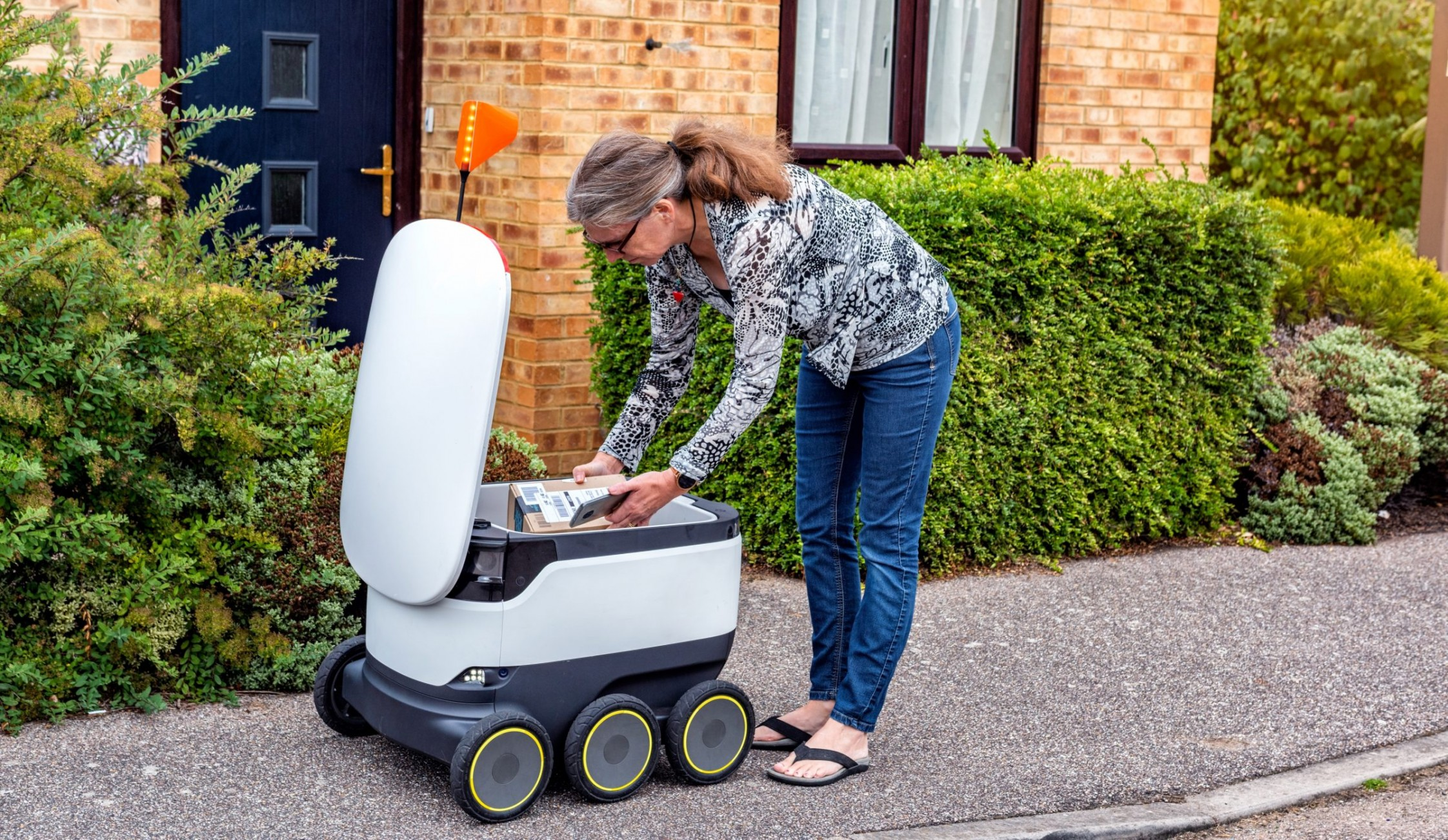 The world's first robot delivery service is launching in the UK
