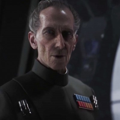 Photo of CGI created Peter Cushing as Grand Moff Tarkin