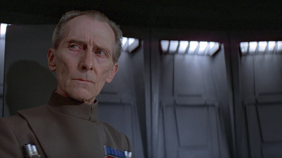 Photo of Peter Cushing as Grand Moff Tarkin