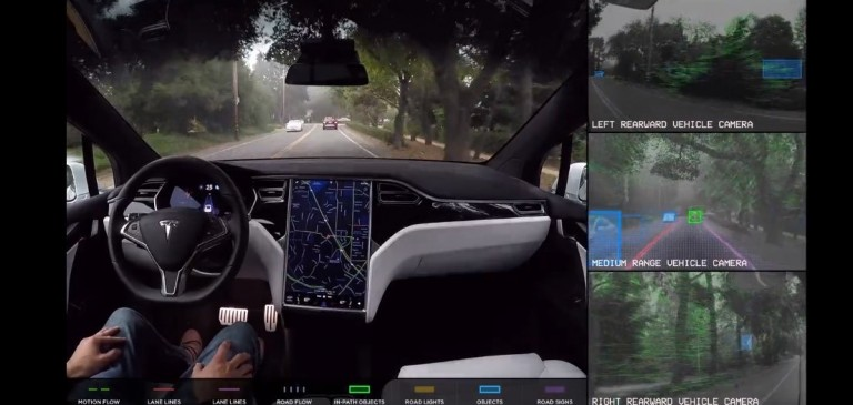 Tesla's Autopilot technology currently relies on Nvidia's chips.