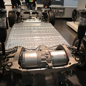 inside factory to build electric car battery packs