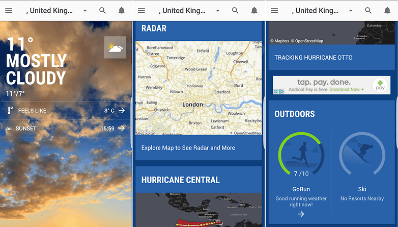 January 7 2019 Screens S Of The Weather Channel App